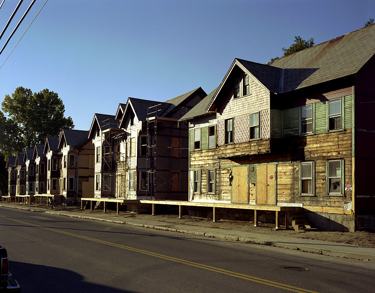 Mill Housing on River Streets during restoration