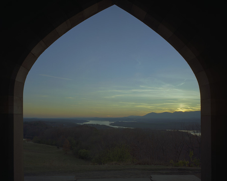 "View from the Court Hall, South through the ""Ombra"" with the Hudson Ri"