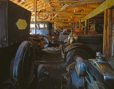 Big Barn Full of Stutz Autos