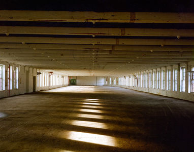Building 5 before the floor was removed, Nov. 1996