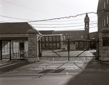 Locked Main Gate, Marshall Street, 1988