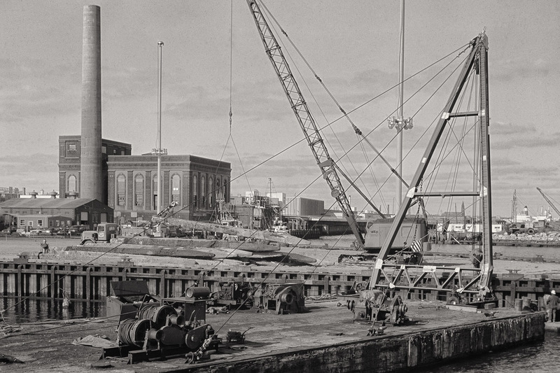 Construction Barge, Rebuilding Piers, Power Plant