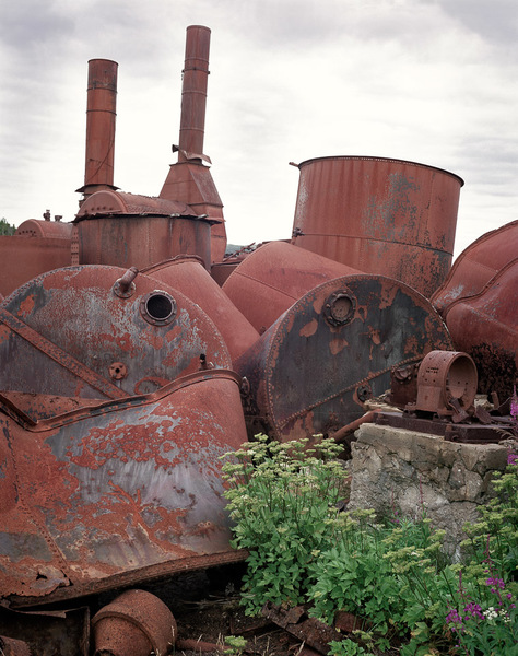 Boiler and Collapsed Oil Tanks