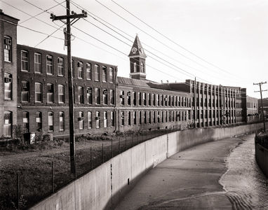 View from Marshall Street Bridge, Buildings 1,2,4,5, 1988